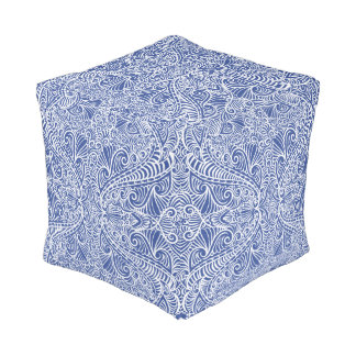 Blue Elegant flow Pouf