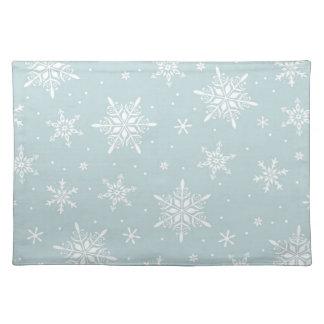 Blue Elegant Snowflake placemat