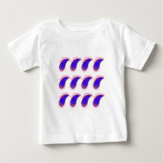 Blue elements on white baby T-Shirt