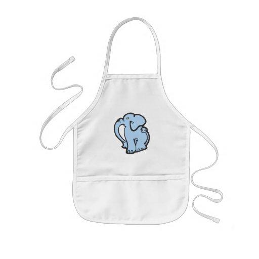 blue elephant aprons
