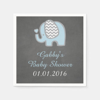 Blue Elephant Baby Shower Napkins Disposable Napkin