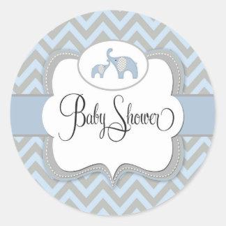 Blue Elephant Baby Shower Sticker
