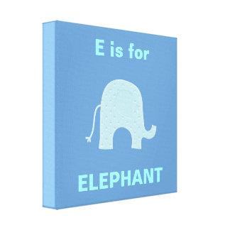 Blue Elephant Canvas