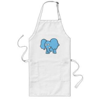 Blue elephant cartoon long apron