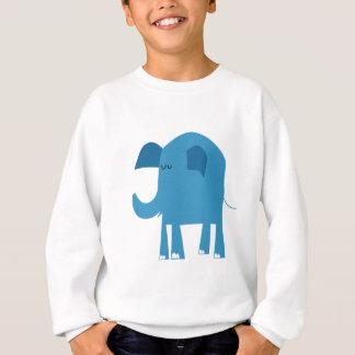 Blue Elephant Cartoon Sweatshirt