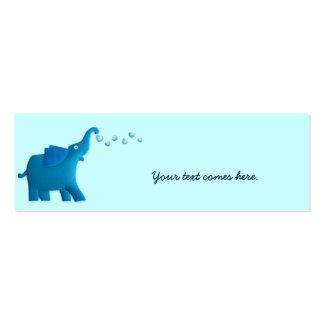 blue elephant heart mini business card
