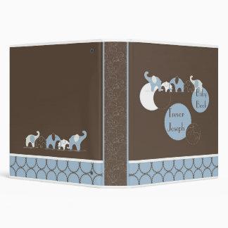 Blue Elephant in a Row Photo Album Binders