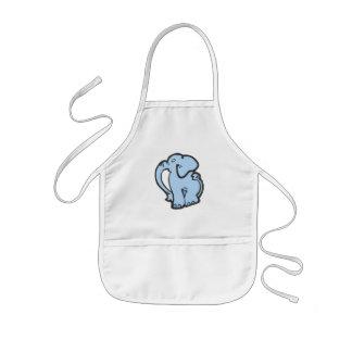 blue elephant kids apron