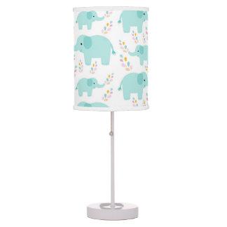Blue Elephant Nursery Print Table Lamp