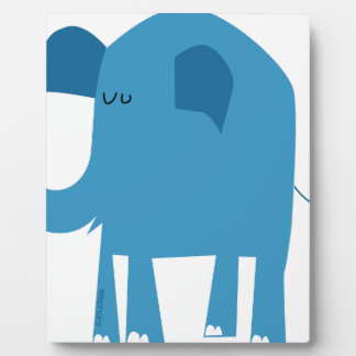 Blue Elephant Plaque