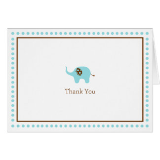 Blue Elephant Thank You Card