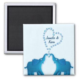 blue elephants magnet