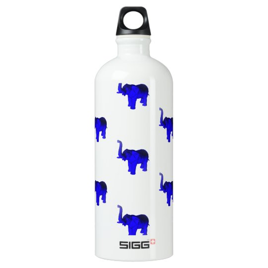 Blue Elephants Pattern