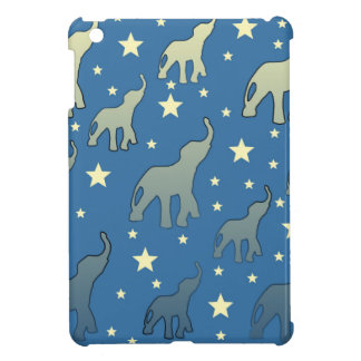 Blue Elephants Stars Pattern iPad Mini Cover