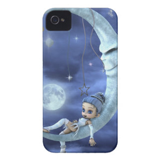 blue elf on the moon iPhone 4 cover