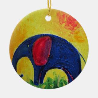 blue elly ceramic ornament