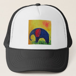 blue elly trucker hat