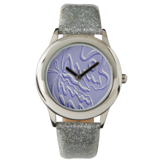 """Blue Embossed """"Tiger"""" Flutterfly Watches"""