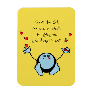 Blue Emoji Children's Meal Prayer Magnet