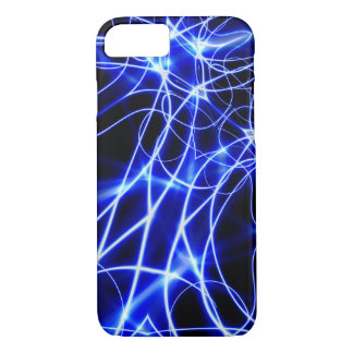 Blue Energy Lines, Fantasy Blue Flash iPhone 8/7 Case