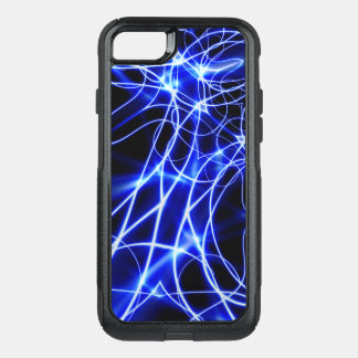 Blue Energy Lines, Fantasy Blue Flash OtterBox Commuter iPhone 8/7 Case