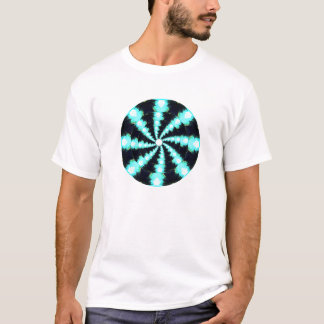 Blue Energy Spiral Mandala T-Shirt