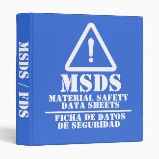 Blue English and Spanish MSDS / FDS Binder