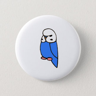 Blue English Budgie 2 Inch Round Button