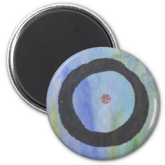 Blue Enso of Tranquility Magnet