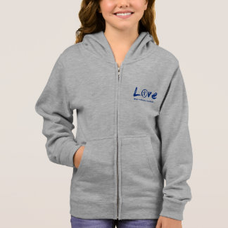 Blue enso zen circle, Japanese symbol for love Hoodie