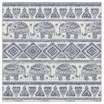 Blue Ethnic Elephant Pattern Fabric