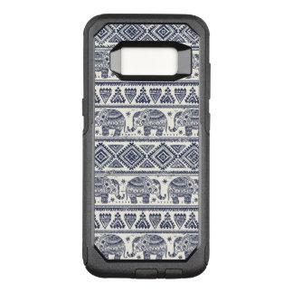 Blue Ethnic Elephant Pattern OtterBox Commuter Samsung Galaxy S8 Case