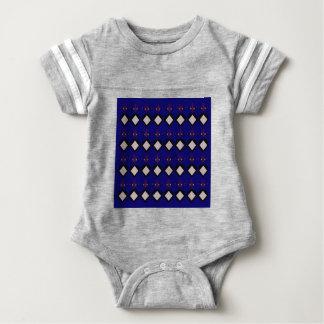 Blue ethno  folk elements baby bodysuit