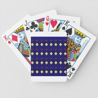 Blue ethno  folk elements bicycle playing cards