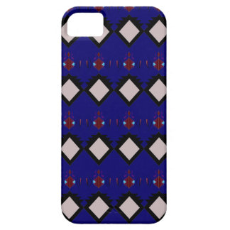 Blue ethno  folk elements case for the iPhone 5