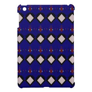 Blue ethno  folk elements iPad mini cases