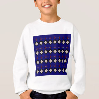 Blue ethno  folk elements sweatshirt