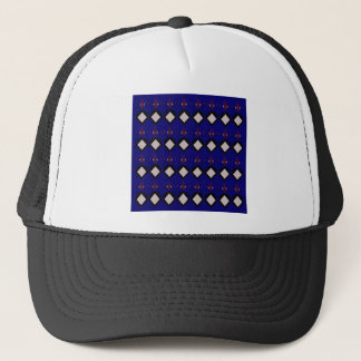 Blue ethno  folk elements trucker hat