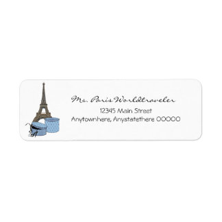 Blue Evening in Paris Eiffel Tower Address Labels