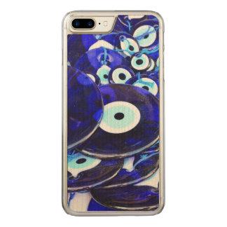 Blue Evil Eye amulets Carved iPhone 8 Plus/7 Plus Case