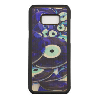 Blue Evil Eye amulets Carved Samsung Galaxy S8+ Case