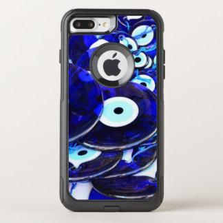 Blue Evil Eye amulets OtterBox Commuter iPhone 8 Plus/7 Plus Case