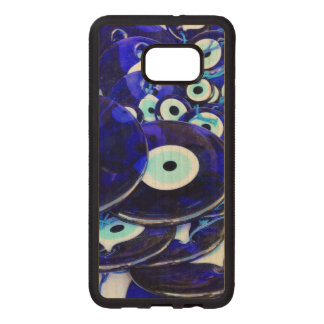 Blue Evil Eye amulets Wood Samsung Galaxy S6 Edge Case