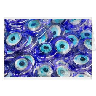 Blue Evil Eye souvenir sold in Istanbul Turkey Card