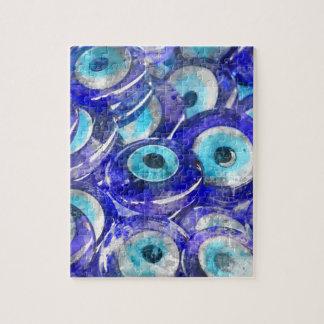 Blue Evil Eye souvenir sold in Istanbul Turkey Jigsaw Puzzle