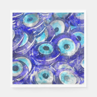Blue Evil Eye souvenir sold in Istanbul Turkey Paper Napkins