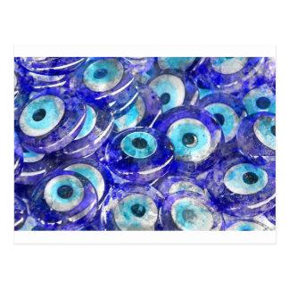 Blue Evil Eye souvenir sold in Istanbul Turkey Postcard