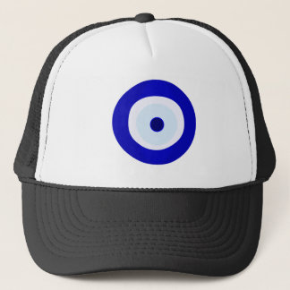Blue Evil Eye Trucker Hat