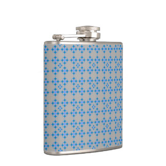 Blue examined hip flask