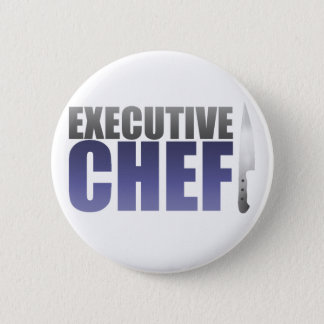 Blue Executive Chef 2 Inch Round Button
